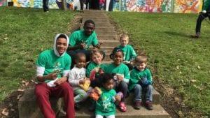 Comcast Cares Day volunteers