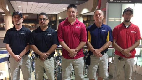 Comcast technicians from Pennsylvania and Ohio volunteer for Hurricane Harvey disaster restoration