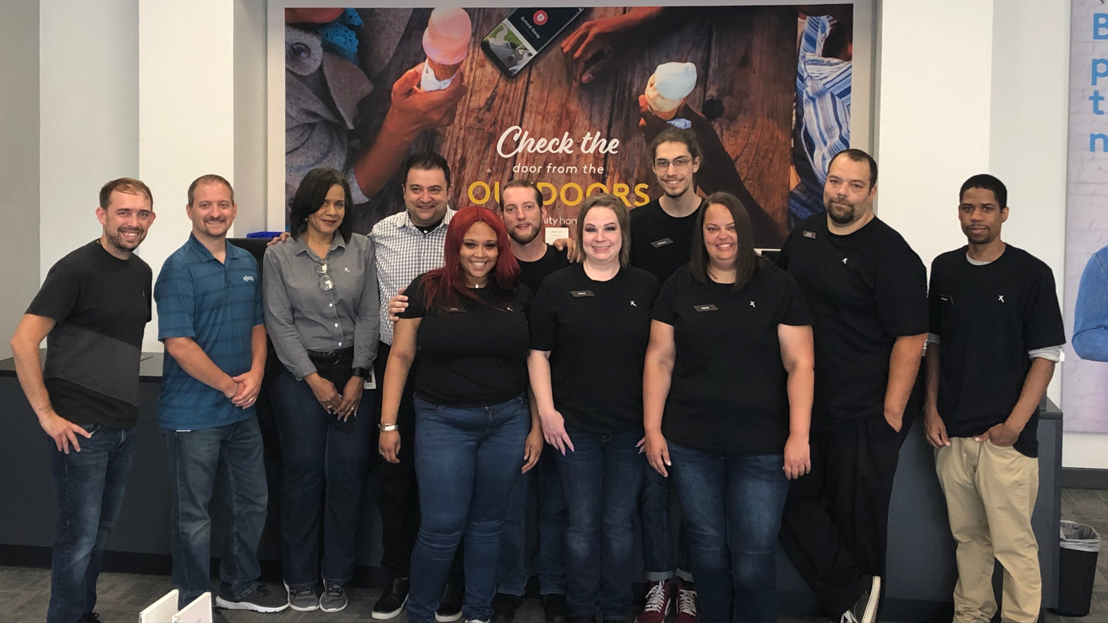 Employees of the Xfinity Store in Bridgeville.